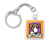 Jack Russell Love Key Ring Fob