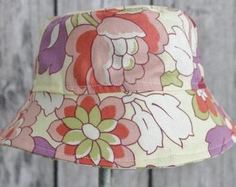 Kids Child Children Reversible Fabric Bucket Hat Gypsy Caravan