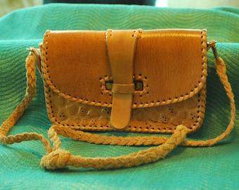 Vintage Leather Tooled purse
