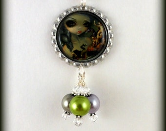 "Jasmine Becket Griffith  "" Tableux Vilants ""  necklace"