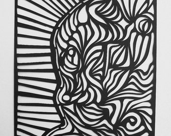 Abstract Paper Cut Artwork