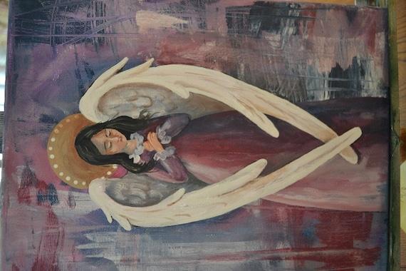 Renaissance Angel Painting Renaissance Angel Acrylic
