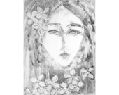 Mary, Mary Monotype OOAK Original Hand Pulled Print