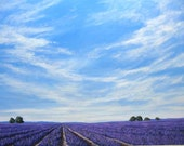 Provence Lavender, Commissioned painting by Patty Baker
