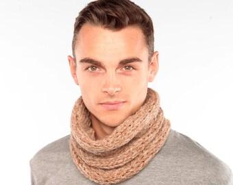 Alpaca Cowl, Handknitted Snood in Alpaca Wool, Chunky Knit Cowl, Wool scarf, Knit scarf, Alpaca Snood,  infinity scarf, gift for husband