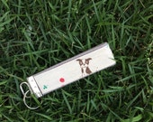 Boston Terrier Wristlet Keychain