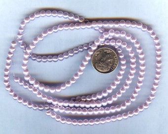 2014 Pantone Color of the Year 4mm Orchid Purple Round Glass Pearls 50 beads