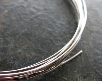 Antiqued 22 gauge Sterling Silver Wire -  5 feet - Dead Soft Round Wire