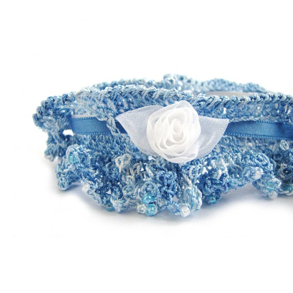 Crochet Wedding Garter: Items Similar To SALE Wedding Garter, Crochet Garter