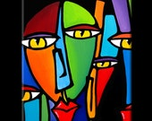 Abstract painting Modern pop Art Contemporary Portrait FACE by Fidostudio - Soup's On
