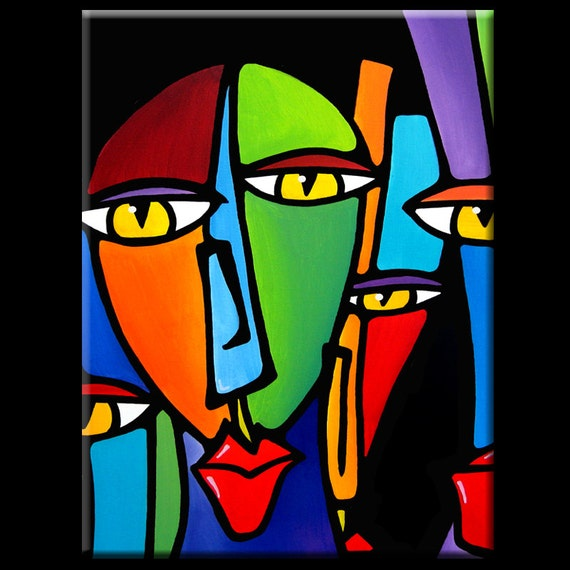 abstract painting modern pop art contemporary portrait face by. Black Bedroom Furniture Sets. Home Design Ideas