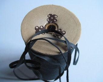 soft black cotton tape 6 yards, black trim 1/4 inches