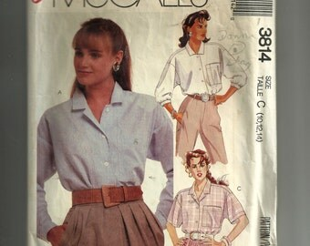 McCall's Misses' Shirt Pattern 3814