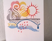 Ross Island Bridge Portland 5X7 Print