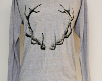 Black Antlers lavender Slouchy Pullover