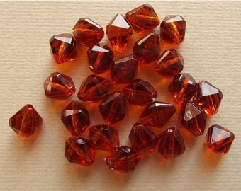 Vintage amber brown lucite beads