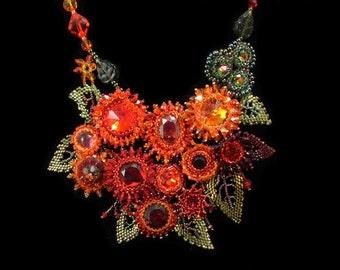 Garden on Fire Necklace