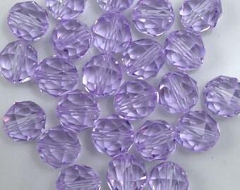 Swarovski 5025 8mm Violet Round Faceted Bead