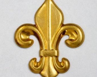45mm Brass Fleur de Lis (2 Pcs) #1146