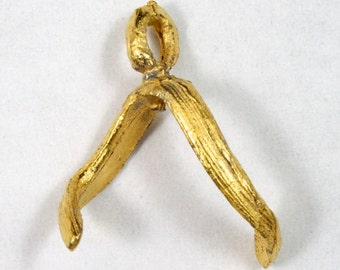 20mm Gold Two Prong Glue-On Bail (4 Pcs) #2155