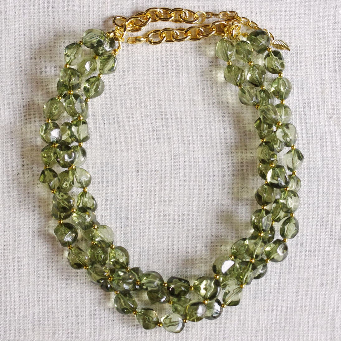 olive green statement necklace chunky green necklace olive