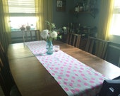 Linen Table Runner - Hand Painted 3 size + More Colors