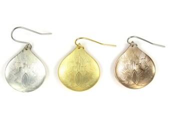 Birdhouse Jewelry  - Buddist Rosepetal Earrings