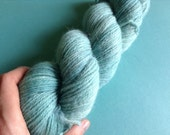 SKYBRIGHT- 100% alpaca kettle dyed skein of DK knitting yarn (270 yards)- so soft!