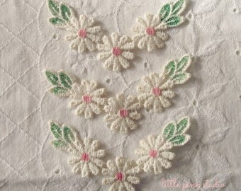 Vintage Pink Daisy Garlands (package of 2)