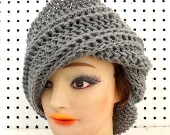 Crochet Pattern for Womens Hat, Crochet Hat Pattern, Crochet Pattern Hat,  Flap Hat Womens Hat, JUDY Womens Crochet Beanie Pattern