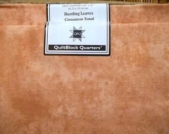 Fat Quarter Jo-Ann Block of the Month Rustling Leaves CINNAMON Tonal 100% Cotton