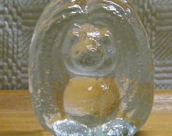 "Vintage 3"" Troll Glass Figurine by Bergdala Glasbruk of Sweden"