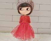Babydoll TUTU Skirt for Blythe-Wine