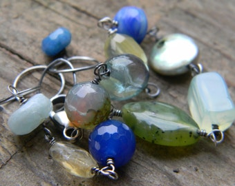 cool gems bracelet with oxidized silver
