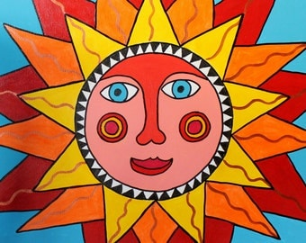 Brilliant Sun Original Painting