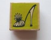 fancy shoe rubber stamp