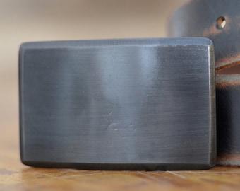 Gun Metal Steel Recession Belt Buckle by Fosterweld