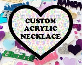 Custom Laser Cut Acrylic Necklace MADE TO ORDER