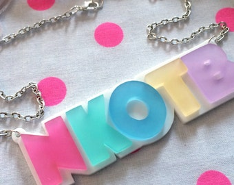 Pastel Acrylic New Kids On The Block Necklace