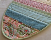 NEW - Pink, Blue, Yellow and Green Easter Egg Mini Quilt, Table Topper or Placemat - Ready to ship