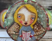 Christmas,  Hand painted, Carol singer, tree decoration