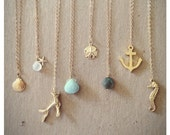 Edisto Collection Necklaces. Gold Filled Chain. Bridesmaids Necklace.