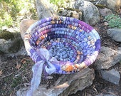 INCANTATION    textile art BASKET bowl for AUTUMN Halloween