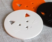 Kitty cat laser cut contemporary coasters coffee table SET OF FOUR