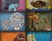 """Mosaic Postcard Variety Pack of ten different designs from the book """"I Love You to Pieces!"""""""