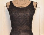 Ladies Black Stretch Lace Camisole  xsmall-large