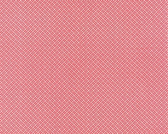 """34"""" piece/remnant - SALE - Miss Kate - Basketweave in Red: sku 55093-11 cotton quilting fabric by Bonnie and Camille for Moda Fabrics"""