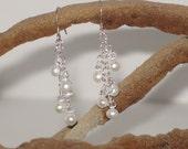 Your Choice - Pearl & Swarovski Dangle Earrings