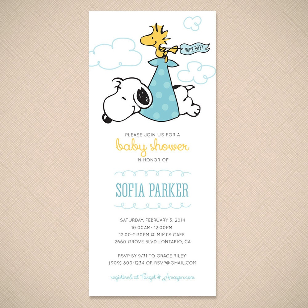 Snoopy Invitations with adorable invitations design