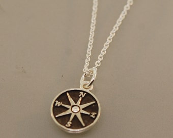 Patina Star Compass Necklace